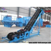 Flat Inclined Rubber Mobile Conveyor Belt System With Grain Coal Hopper Manufactures