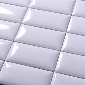 China Non Slip Modern Kitchen Wall Tiles White Glossy Ceramic Mosaic Subway Tile on sale