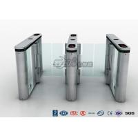 China Fingerprint Pedestrian Swing Gate Turnstile RFID Card Reader Anti Pinch Mechanical Structure on sale
