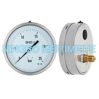 Shockproof Hydraulic Pressure Gauge Back Lower Connector With Fillable Glycerin Manufactures