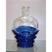 White crystal swan foreign wine bottle with set of blue, 750ml Manufactures