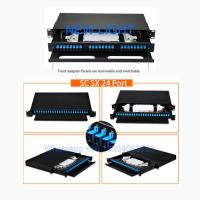 Rack Mount Multimode Fiber Optic Patch Panel / 48 Port 19 Inch Patch Panel Fiber Optic Manufactures