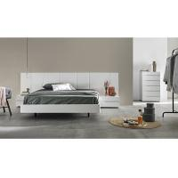 White Gloss Bedroom Furniture Sets With Big Headboard King Size Bed For Hotel Or Villa Manufactures