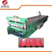686 MM Width Trapezoidal Sheet Roll Forming Machine With Hydraulic Cutting Manufactures
