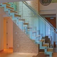 Best selling stair railing with side handrail standoff glass balustrade Manufactures