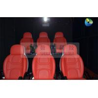 Black Mobile 5D Cinema Track Box 6 Seats Inside With 4 Wheels Manufactures