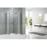 Diamond Shape Stainless Steel Pivot Glass Shower Door Nano Tempered Glass For Hotel Manufactures