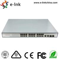 24 Port 10 / 100M Industrial Ethernet Switch Din Rail Mount With 2 Gigabit TP / SFP Combo Ports Manufactures