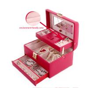 China Luxury Velvet Leather Travel Jewellery Box , Fine Personalized Travel Jewelry Case on sale