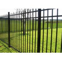 Black Powder Coated Tubular Gates and Fence 2450 Wide x 2100mm High Manufactures
