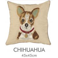 Floor Fluffy Embroidered Decorative Pillows 18 X 18 With Smiling Puppy for sale of ...