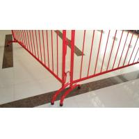 Crowd Control Fencing red color Manufactures