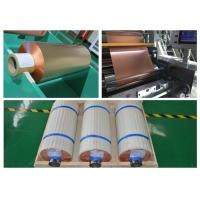 99.95% Purity Soft Copper Foil Roll / Strip Double Sided Light SGS Approval Manufactures