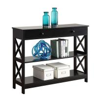 Natural Entryway Dark Wood Console Table With X Design Both Sides Manufactures