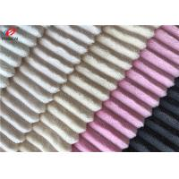 100% Polyester Minky Plush Strip Design Fabric Soft Feel Fluffy Fabric For Baby Manufactures