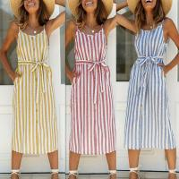 New summer sexy striped halter dresses Manufactures