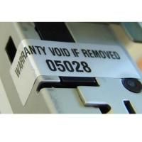 Custom High Tack Water Based Silver VOID Label sticker On Rolls Manufactures