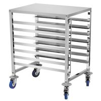6 Shelf Baking Tray Trolley For Rotary Oven Pastry Stainless Steel Tray Rack Manufactures