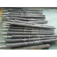 China SJZ-65/132 conical double screw barrel for pvc pipe extruder/ conical twin screw barrel for sheet and profile on sale