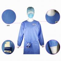Impervious Disposable Surgical Gown Sms Protective Clothing Knitted Cuff Sleeve Standard Manufactures