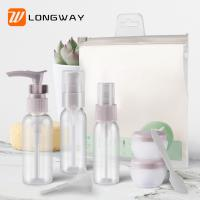 China 9pcs PET Lotion Spray Travel Toiletry Bottle Kit For Personal Care Customized Color on sale