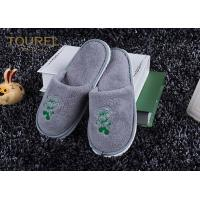 Men And Women Disposable Hotel Slippers Used Soft Sole Cotton Coral Yarn - Dyed Manufactures