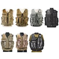 China Camo Light Weight Paintball Tactical Vest , Police Military Army Airsoft Vest on sale