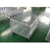 Durable Folding Wire Mesh Pallet Cages Glavanized Metal  Stillage Container Manufactures