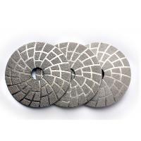 4 Inch Vacuum Brazed Diamond Tools Stone Polishing Pads OEM / ODM Available Manufactures