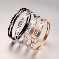 Stainless Steel Hollow Bracelets With Zircon Manufactures
