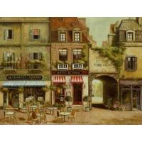 Supply store front oil painting Manufactures