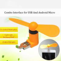 2016 New products 2 in 1 OTG micro mini usb fan for cell Phones and usb port Manufactures
