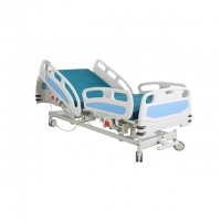 China 3 Function Bumper Wheel 750MM Electric ICU Hospital Bed on sale