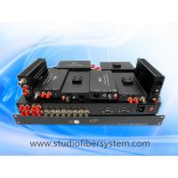4 port fast light compact SDI video over fiber optic system Manufactures