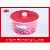 135 x 150 MM Cylinder Cookie Packaging Gift Tins Container Box With Nob On Lid Manufactures