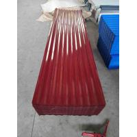 Buy cheap Heavy Duty Zinc Coated Standard Size Corrugated Steel Roof Sheets from wholesalers