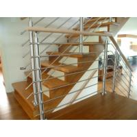 Metal Solid Stainless Steel Rod Railing Villa Use With Wood Handrail Manufactures