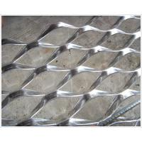 Decorative Aluminum Expanded Mesh Sheet , Diamond Wire Mesh Panels Raised Expanded