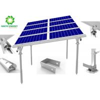 Lightweight Aluminum Structure Solar Mounted System Ground Solar Mounting Brackets Anti Corrosion Engineered Design Manufactures