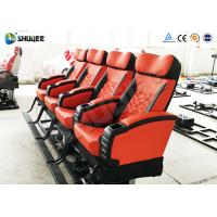 Motion 4d Movie Theatre Spray Air , Spray Water , Push Back Fiber Glass Material Manufactures