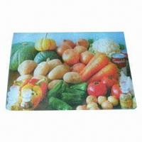 Breakfast Cutting Board/Plate, Made of Toughened Glass, Customized Logos Welcomed Manufactures