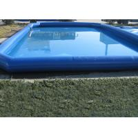 Popular Blue Kids Swimming Pool , Pirate Slide Above Ground Swimming Pools For Kids Manufactures