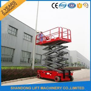 Battery Powered Self Propelled Elevating Work Platforms 300kg / 1000kg Load Capacity Manufactures