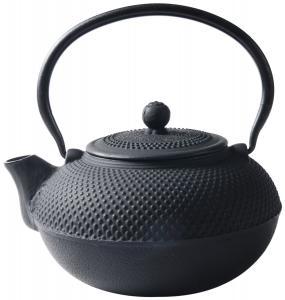 Black Hobnail Cast Iron Teapot , 900ml Chinese Cast Iron Tea Set Manufactures