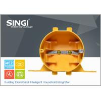 Yellow Plastic exterior Electrical Junction Boxes for industrial Manufactures