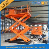 China 1T 5.5M Hydraulic Heavy Duty Scissor Lift Electric Home Scissor Lift Platform With CE on sale