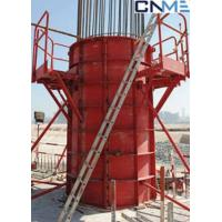 High Stiffness Circular Column Formwork Systems Channel Steel Material Red Color Manufactures