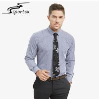 China Embroidery Fabric Mens Fitted Shirts Casual , Mens Casual Cotton Shirts M - 2XL Sizes on sale