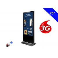 4K Resolution Floor Standing LCD Advertising Display Kiosk Digital Signage 3G Manufactures