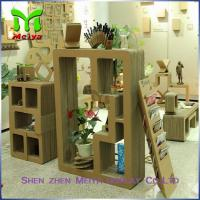 Cartoon Corrugated Cardboard Bookcase Furniture For Display Small Toys And Books Manufactures